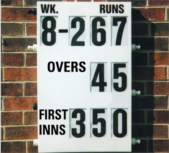 Wall Mounted Cricket Scoreboard