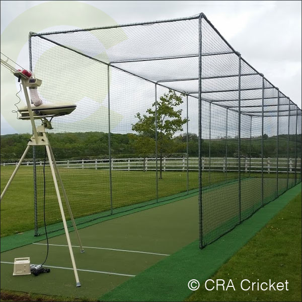 Home garden cricket practice artificial batting for Indoor cricket net design