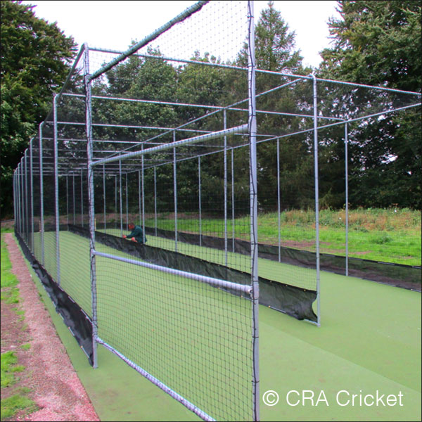 Professional club ground cricket pitch practice area for Indoor cricket net design