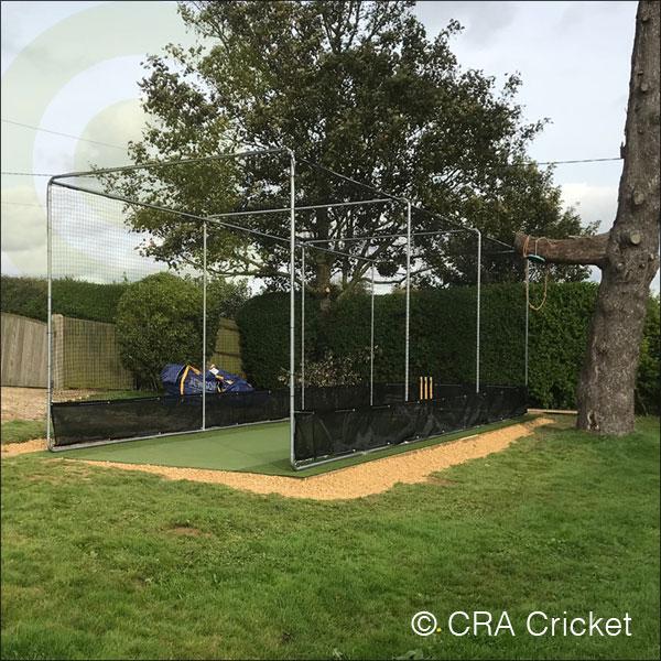Garden Cricket Practice Area Artificial Outdoor Pitch Installation Cra Cricket Equipment Construction Installation