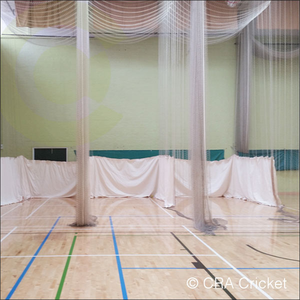 Interior roofed net tracking systems cra cricket for Indoor cricket net design