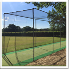 Steel in ground cricket cage