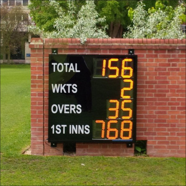 Wall mounted cricket scoreboard